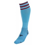 PT 3 Stripe Pro Football Socks Mens Sky/Maroon