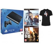 500GB Super Slim Console System Black + Battlefield 4 + T-Shirt + Last Of Us Game PS3