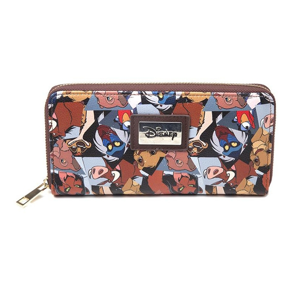 Disney - The Lion King All-over Characters Print Zip Around Wallet Purse (Multi-colour)