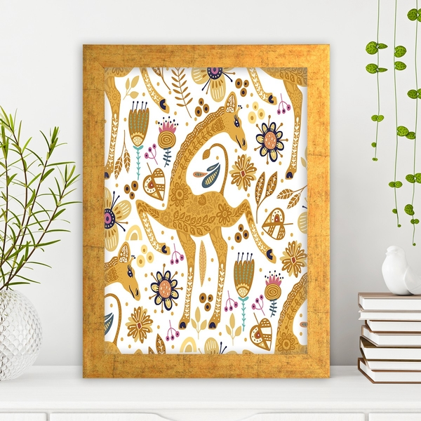 AC61482372125 Multicolor Decorative Framed MDF Painting