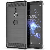 Sony Xperia XZ2 Carbon Anti Fall TPU Case - Black