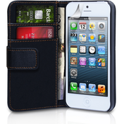 YouSave Accessories iPhone 5c PU Leather Wallet Case - Black