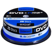 Intenso DVD R, 8.5GB, 8x Speed, Dual Layer, Slim Case of 25