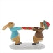 Peter Rabbit and Benjamin Pulling a Cracker Figurine - Image 2