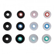 Silicone Replacement Ear Pads Size S - L 12 pieces black/transparent