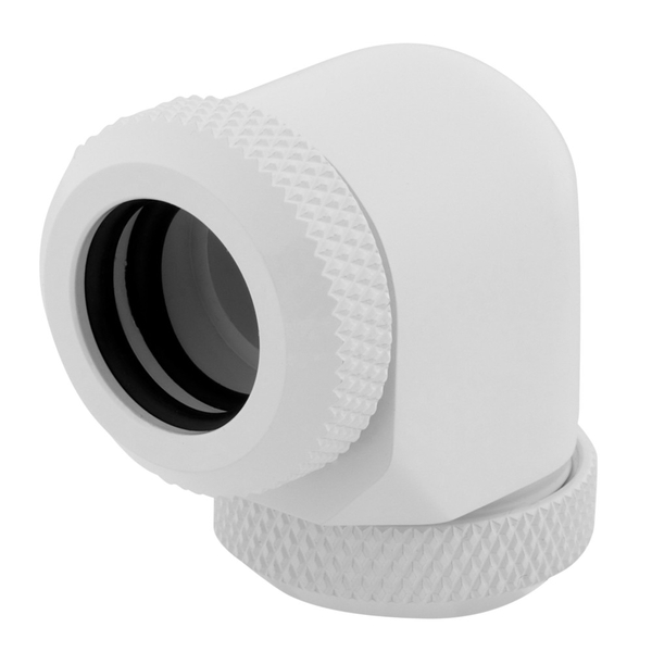 Corsair XF Hardline 90 Angled 12mm White Fitting - Twin Pack (CX-9052027-WW)