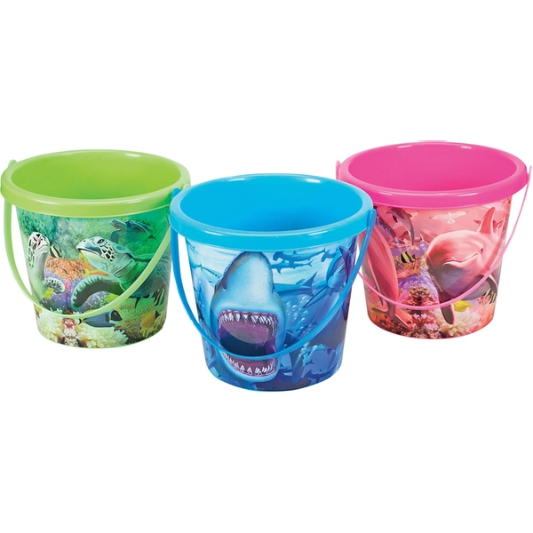 Childrens Sealife Bucket (1 At Random)