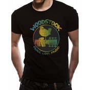Woodstock - Colour Logo Unisex Men's X-Large T-Shirt - Black