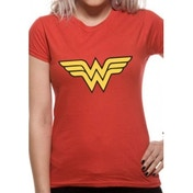 Wonder Women Logo DC Essentials Range Womens T-Shirt XX-Large - Red