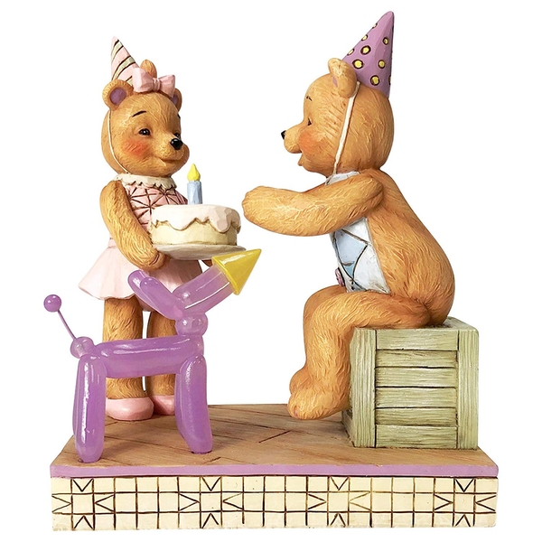 Make A Wish Button and Pinky Happy Birthday Figurine
