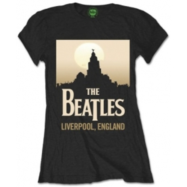 The Beatles Liverpool England Womens Blk Tshirt: Large