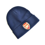Arsenal Crest Knitted Turn Up Hat Navy