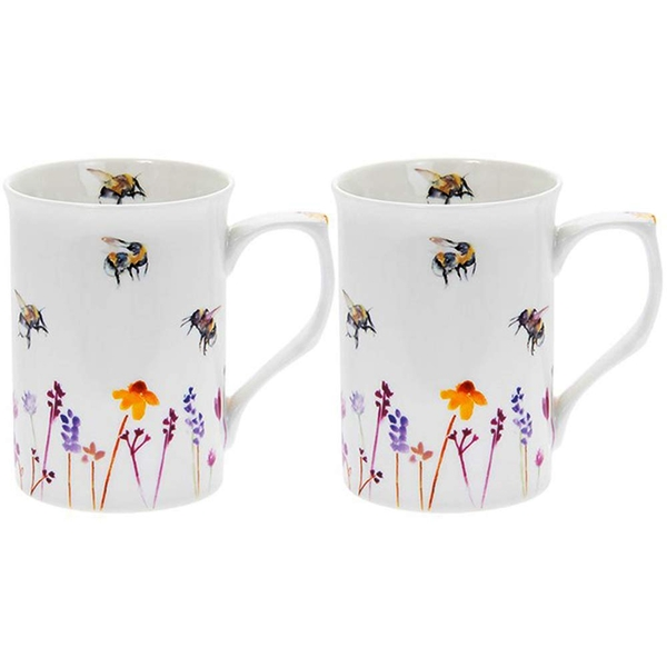 Busy Bees Mugs Set Of 2 By Lesser & Pavey
