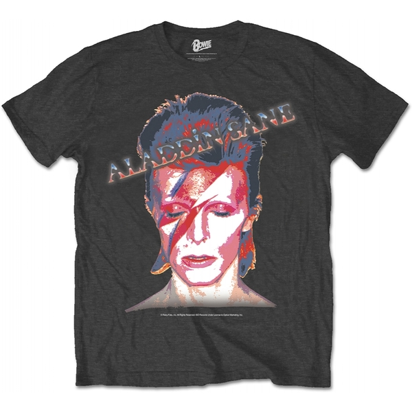 David Bowie Aladdin Sane Men's X-Large T-Shirt - Black