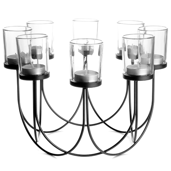 8 Tea Light Candle Holder | M&W Black - Image 1