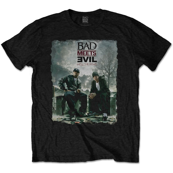 Bad Meets Evil - Burnt Men's XX-Large T-Shirt - Black