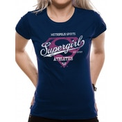 Supergirl - Athletics Fitted T-shirt Blue XX-Large