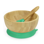 Bamboo Baby Suction Bowl & Spoon | M&W Green