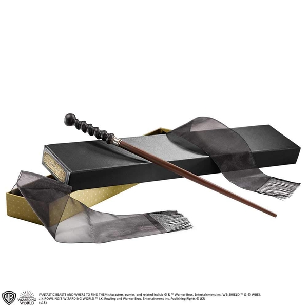 Abernathy Wand (Fantastc Beasts The Crimes of Grindelwald) In Collectors Box by Noble Collection