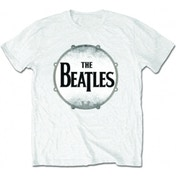 The Beatles Drumskin White T Shirt: Large