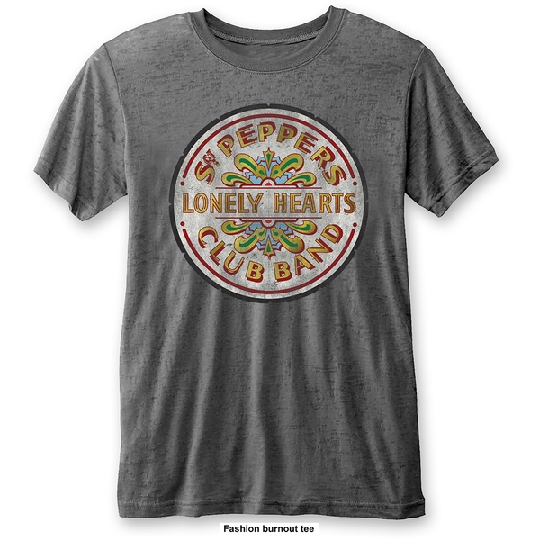 The Beatles - Sgt Pepper Drum Unisex Small T-Shirt - Grey
