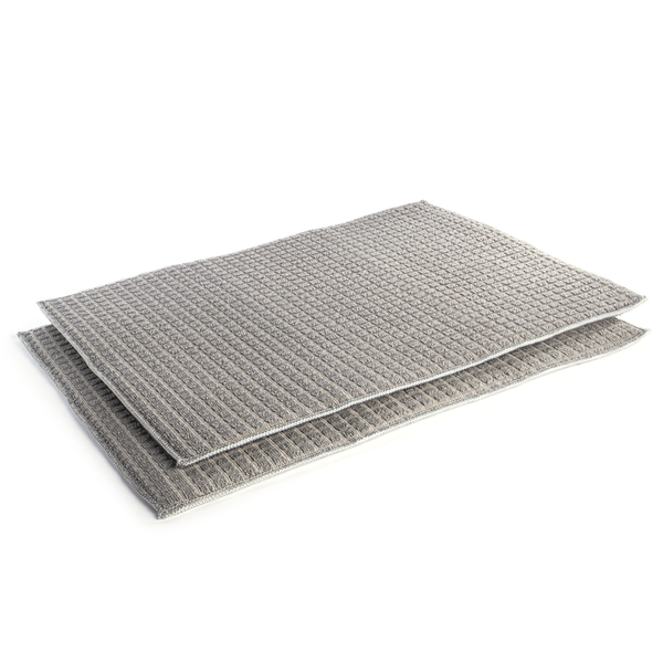 Grey Microfibre Drying Mats - Set of 2 | Pukkr - Image 1