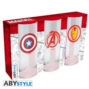 Marvel - 3 Glasses Set Glass
