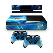 Official Manchester City FC Xbox One Console Skin and 2x Controller Skin Combo Pack