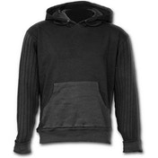 Metall Streetwear Supa Ribbed Sleeve Men's Large Hoodie - Black