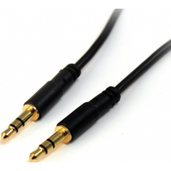 15 ft Slim 3.5mm Stereo Audio Cable - M/M