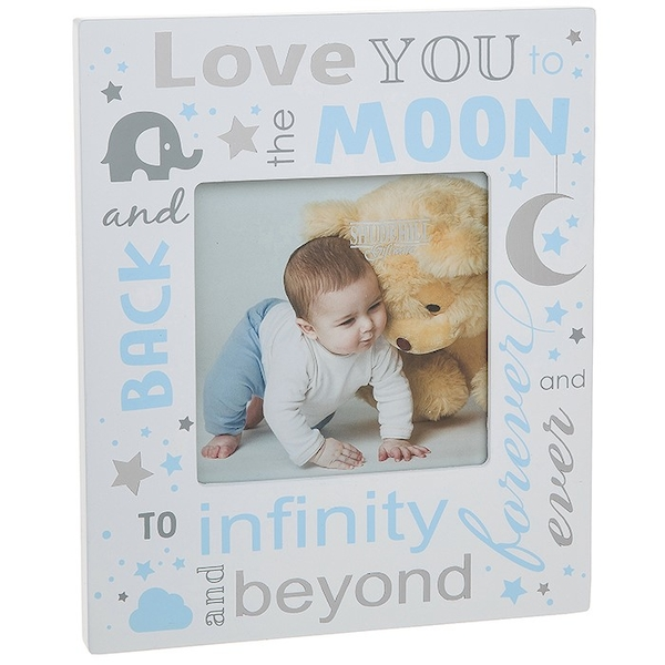 Love You To Moon Baby Boy Frame 4x4
