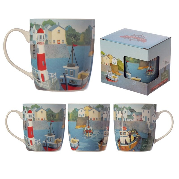 Harbour View Seaside New Bone China Mug
