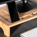 Bamboo Monitor Stand   M&W 1 Tier - Image 4