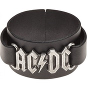 AC/DC Logo Leather Wriststrap Bracelet