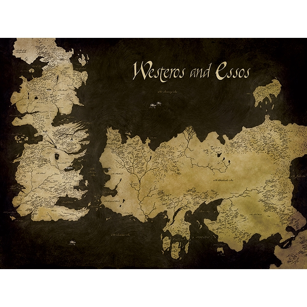 Game Of Thrones Westeros And Essos Antique Map Canvas