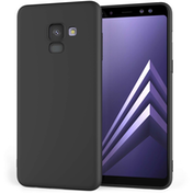 Caseflex Samsung Galaxy A8 Plus (2018) Matte TPU Gel Case - Solid Black