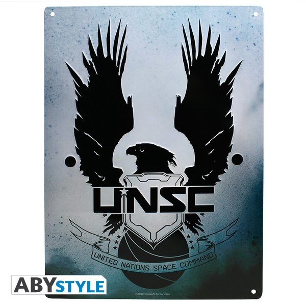 Halo - Unsc (28 x 38cm) With Hook Metal Plate