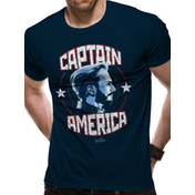 Avengers: Infinity War - Captain America Men's XX-Large T-Shirt - Black