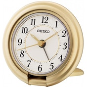 Seiko QHT014G Travel Alarm Clock with Screen Press Function Gold