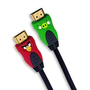 Angry Birds HDMI 2M Braided Gold Plated Cable With Bird & Pig Connectors