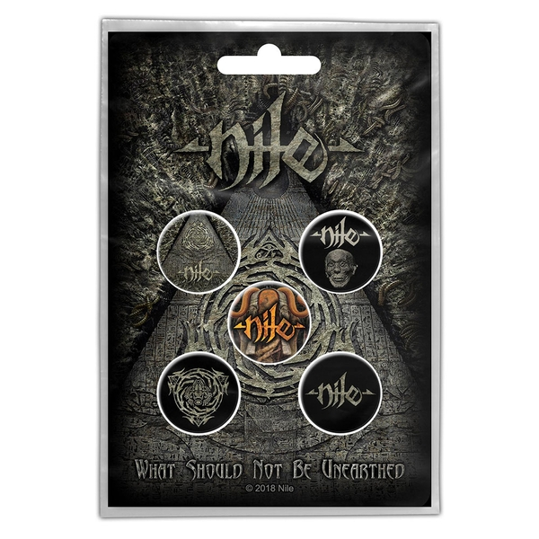 Nile - What Should Not Be Unearthed Button Badge Pack
