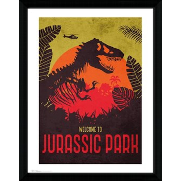 Jurassic Park - Silhouette Collector Print