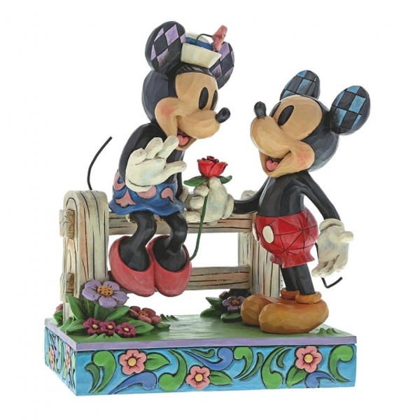Blossoming Romance (Mickey Mouse & Minnie Mouse) Disney Traditions Figurine