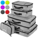 Savisto Packing Cubes Suitcase Organiser 6-Piece Set - Grey