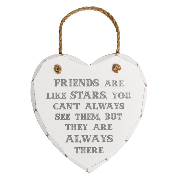 Sass & Belle Friends Are Like Stars Heart Plaque