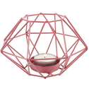 Pink Geometric Wire Candle Holder
