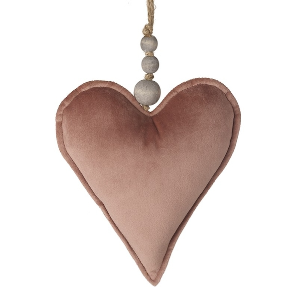 Fabric Hanging Heart Decoration by Heaven Sends