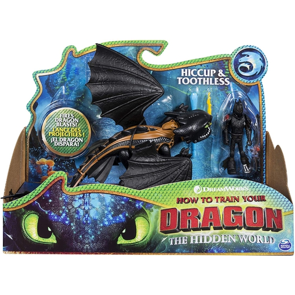 DreamWorks How To Train Your Dragon: The Hidden World Armored Toothless and Hiccup Viking Figure