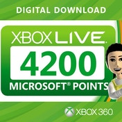 Xbox Live 4200 Points Card Xbox 360 Digital Download