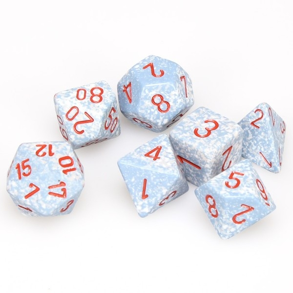 Chessex Speckled Poly 7 Dice Set: Air